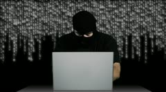 Hacker Working Table Arrested 1 720 - stock footage