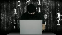 Hacker Working Table Arrested 5 720 - stock footage