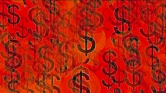Float USA dollars money wealth sign symbol. Stock Footage