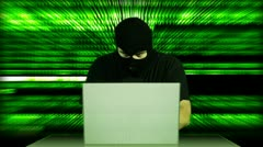 Hacker Working Table Arrested 14 720 - stock footage