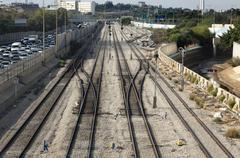 rush hour railroad - stock photo
