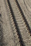 Tilted railroad Stock Photos
