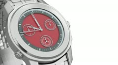 Silver watch HD1080 Stock Footage