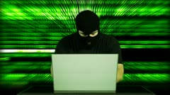 Hacker Working Table Arrested 29 720 - stock footage