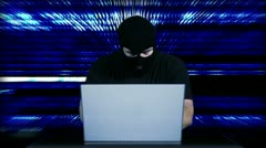 Hacker Working Table Arrested 30 720 - stock footage