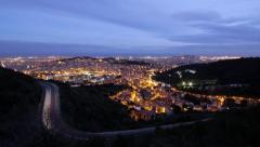 Barcelona time lapse sundown - stock footage