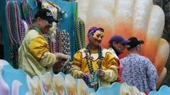 Mardi Gras Large Throw Stock Footage
