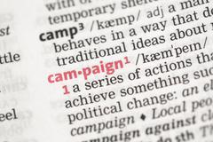 Campaign definition Stock Photos