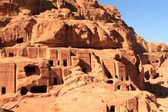 the outer siq, in petra, jordan - stock photo