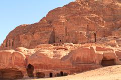 Stock Photo of the outer siq, in petra, jordan