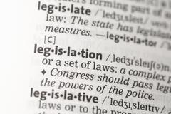 Legislation definition - stock photo