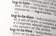 Stock Photo of Legislation definition