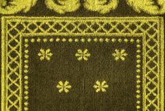 Cotton fabric texture -khaki with yellow patterns Stock Illustration