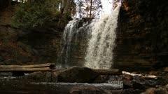 HD Waterfall in Autumn Stock Footage