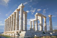 temple of poseidon - stock photo