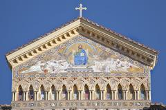 Cathedral in amalfi Stock Photos