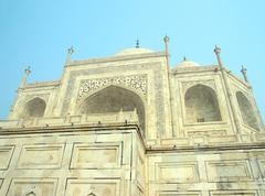taj mahal - famous mausoleum - stock photo