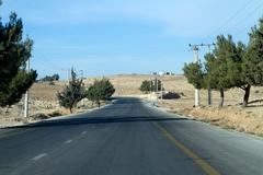Landscape at  amman,jordan Stock Photos
