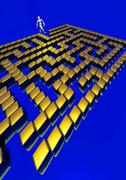 3d maze Stock Illustration