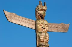 Stock Photo of totem pole