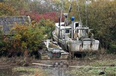 Stock Photo of abandoned boat