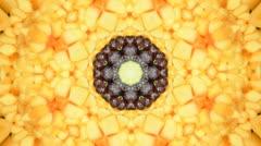 Fruit kaleidoscope fun Stock Footage