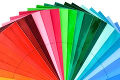 Stock Photo of color swatch fan cutout