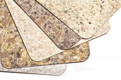 Laminate flooring samples Stock Photos