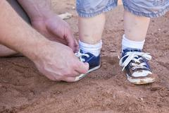 Little boys shoes Stock Photos
