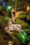 reindeer christmas ornament - stock photo