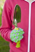 garden trowel - stock photo
