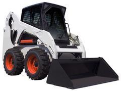 white bulldozer - stock photo