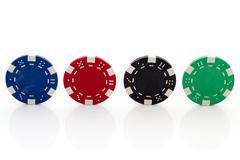 Poker chips Stock Photos