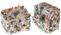 paper briquettes cutout - stock photo