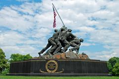 Iwo Jima Memorial in Washington DC Stock Photos