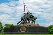 Stock Photo of Iwo Jima Memorial in Washington DC