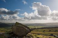 Norber erratics landscape in yorkshire dales national park Stock Photos
