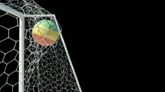 Bolivian ball scores in slow motion with alpha channel Stock Footage