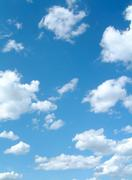 spring clouds - stock photo