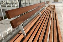 Decorative diminishing bench Stock Photos