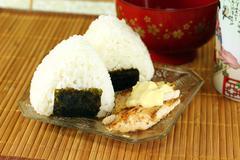 Japanese rice balls ( onigiri ) Stock Photos