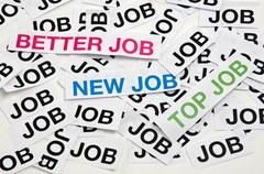 Stock Photo of better job, new job, top job
