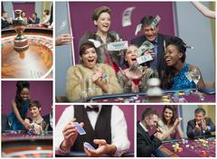Collage of casino images Stock Photos