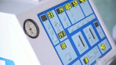medical equipment in the surgical operating 2 - stock footage
