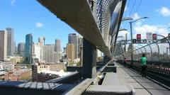 Sydney Harbour bridge glidetrack (20) Stock Footage