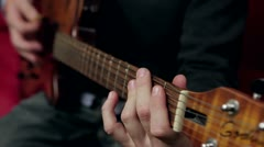 Strumming Guitar Chords Stock Footage