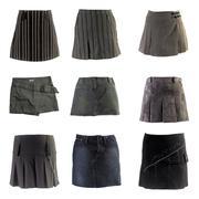 mini skirts - stock photo