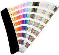 color scale cutout - stock photo