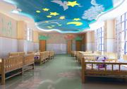 Stock Illustration of 3d kindergarten bedroom