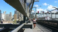 Sydney Harbour bridge glidetrack (19) Stock Footage